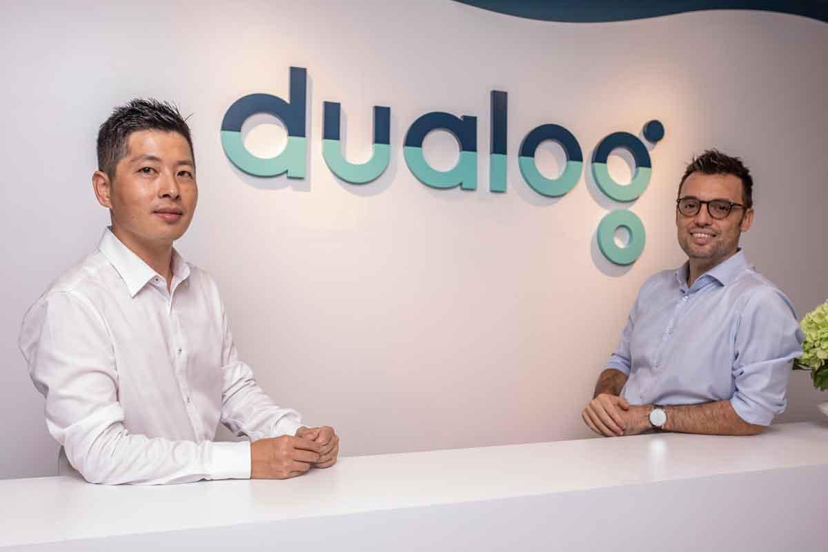 Louis Liu and Andrea Giglietti, Head of Customer Success at Dualog